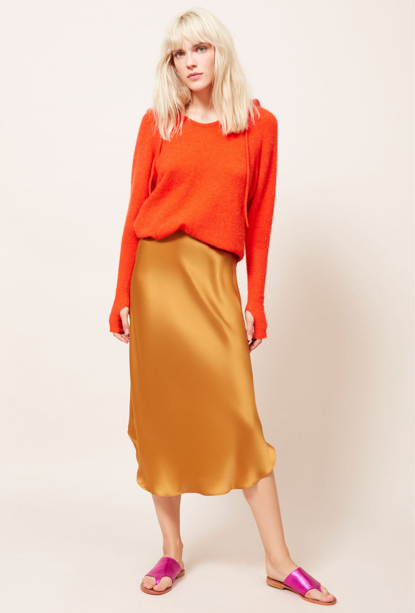 Mes Demoiselles nami silk skirt