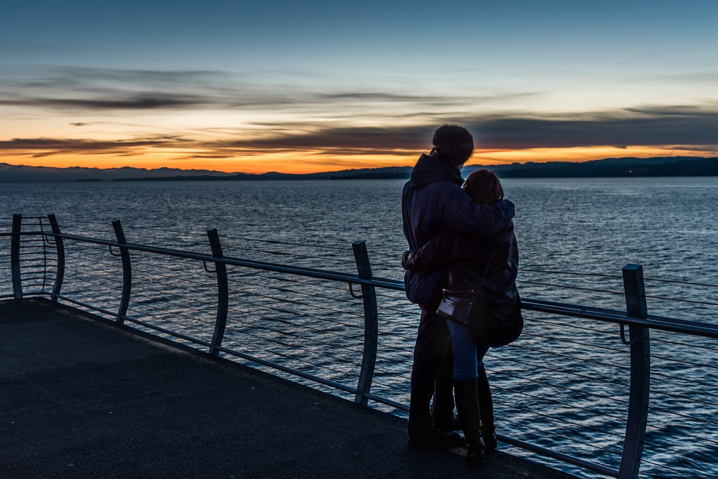 couple watching the sunset Valentine's Day