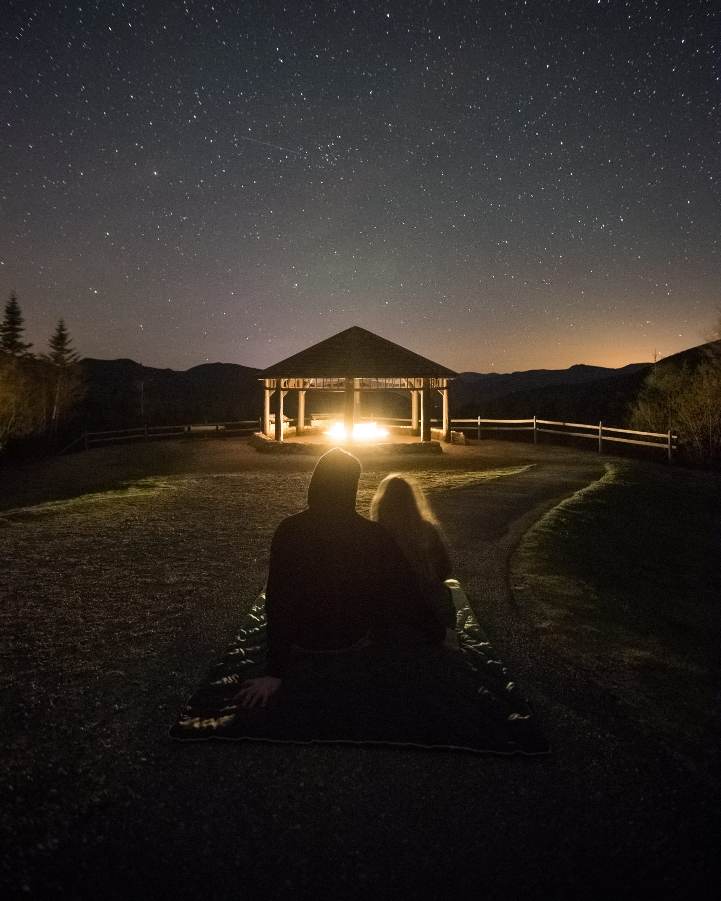 couple stargazing Valentine's Day