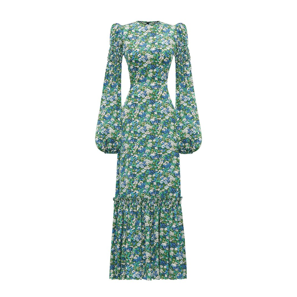 The Vampire's wife peacock dress, green floral dress