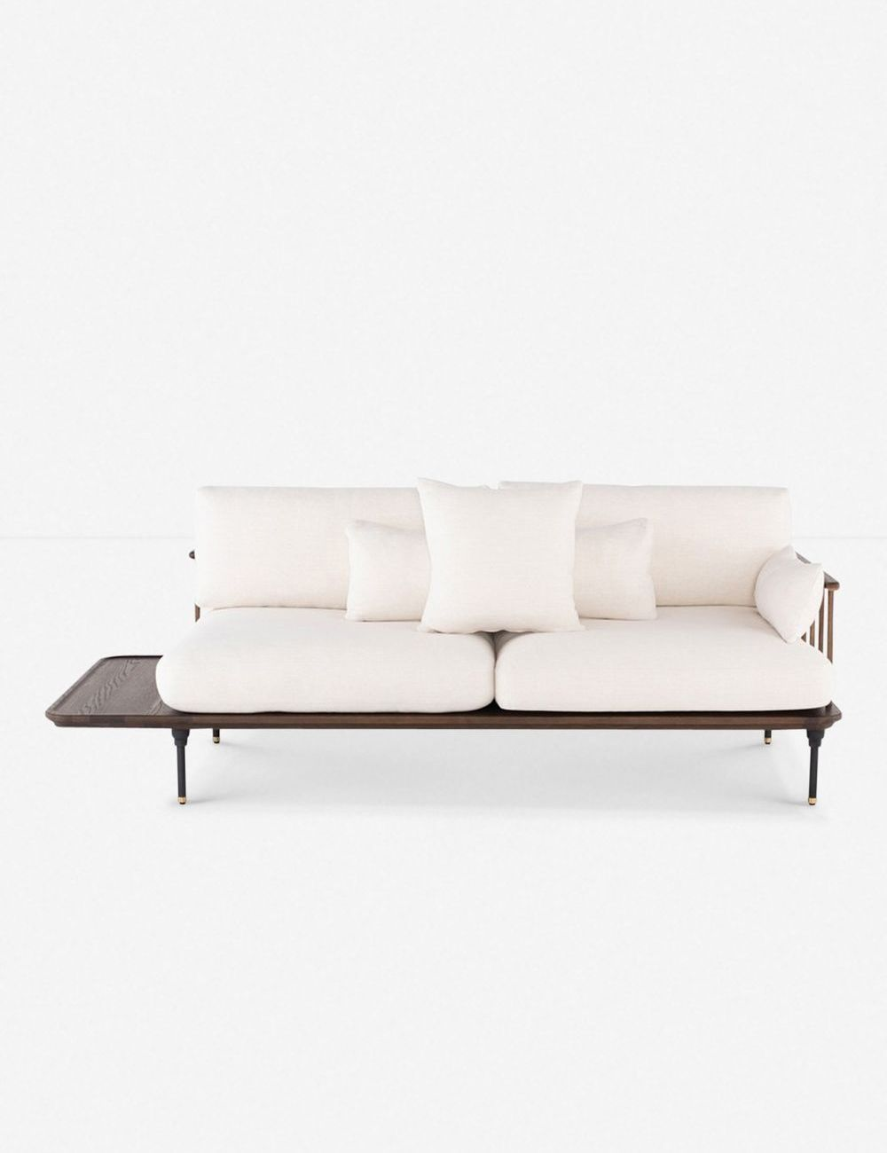 wood base sofa