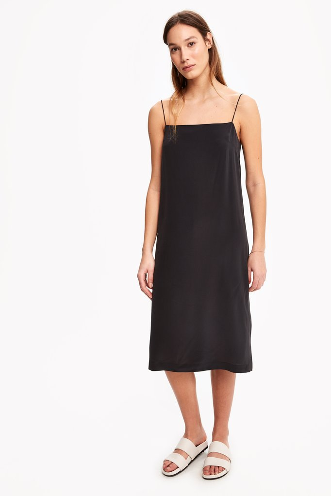 lole washable silk slip dress