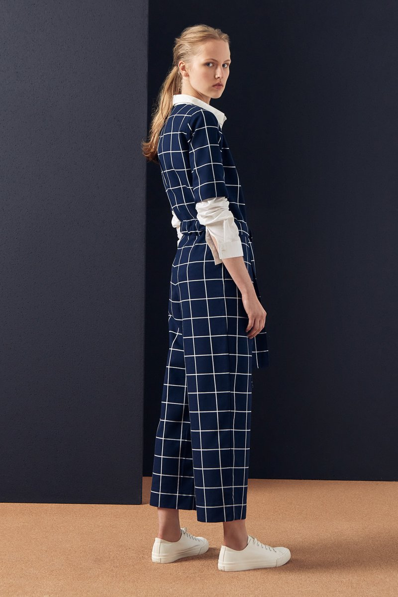 kowtow check jumpsuit