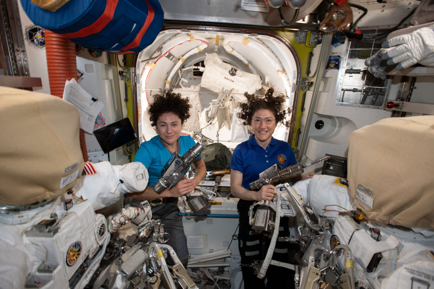 First all-woman's space walk