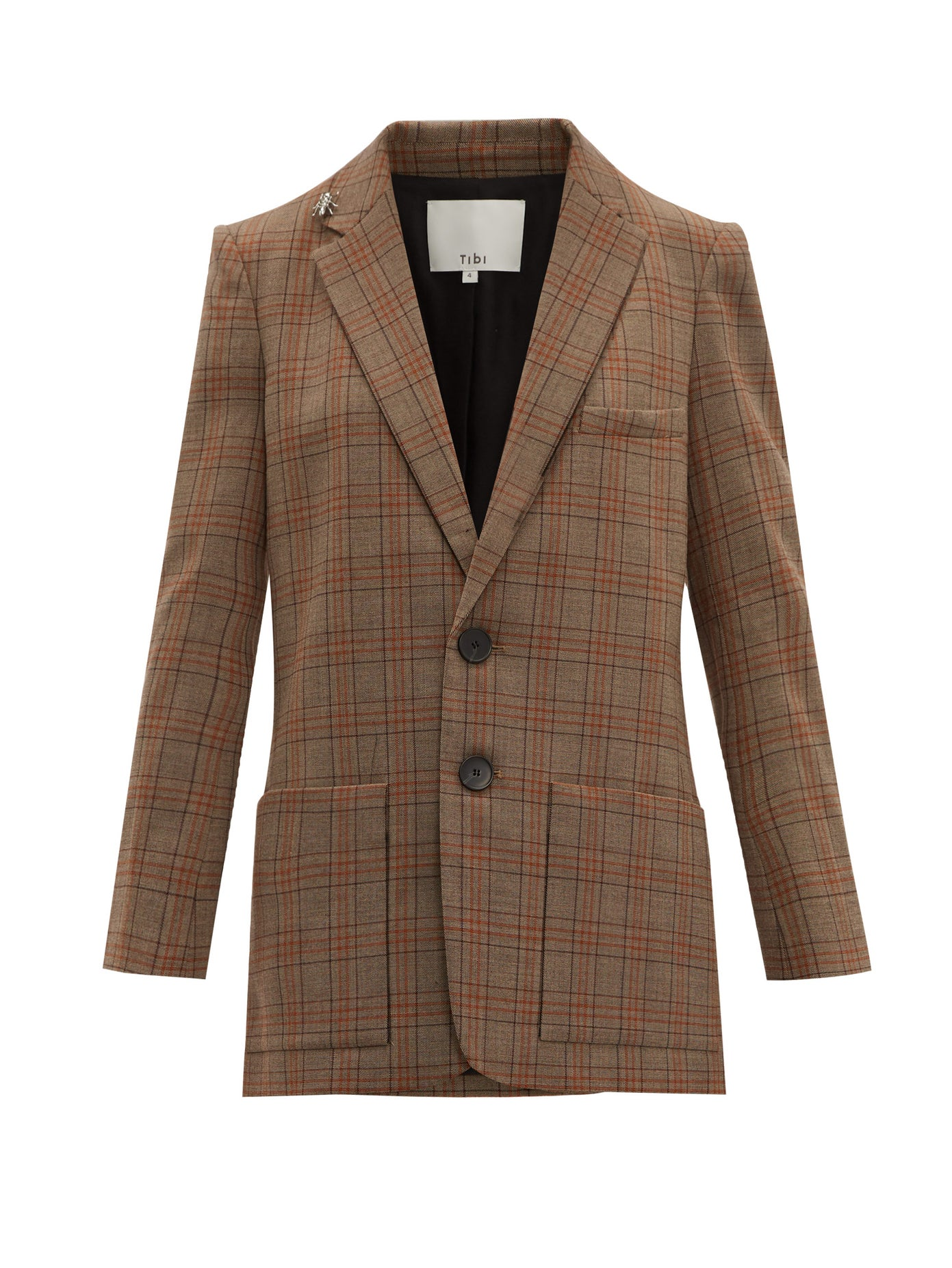 Tibi brown plaid blazer