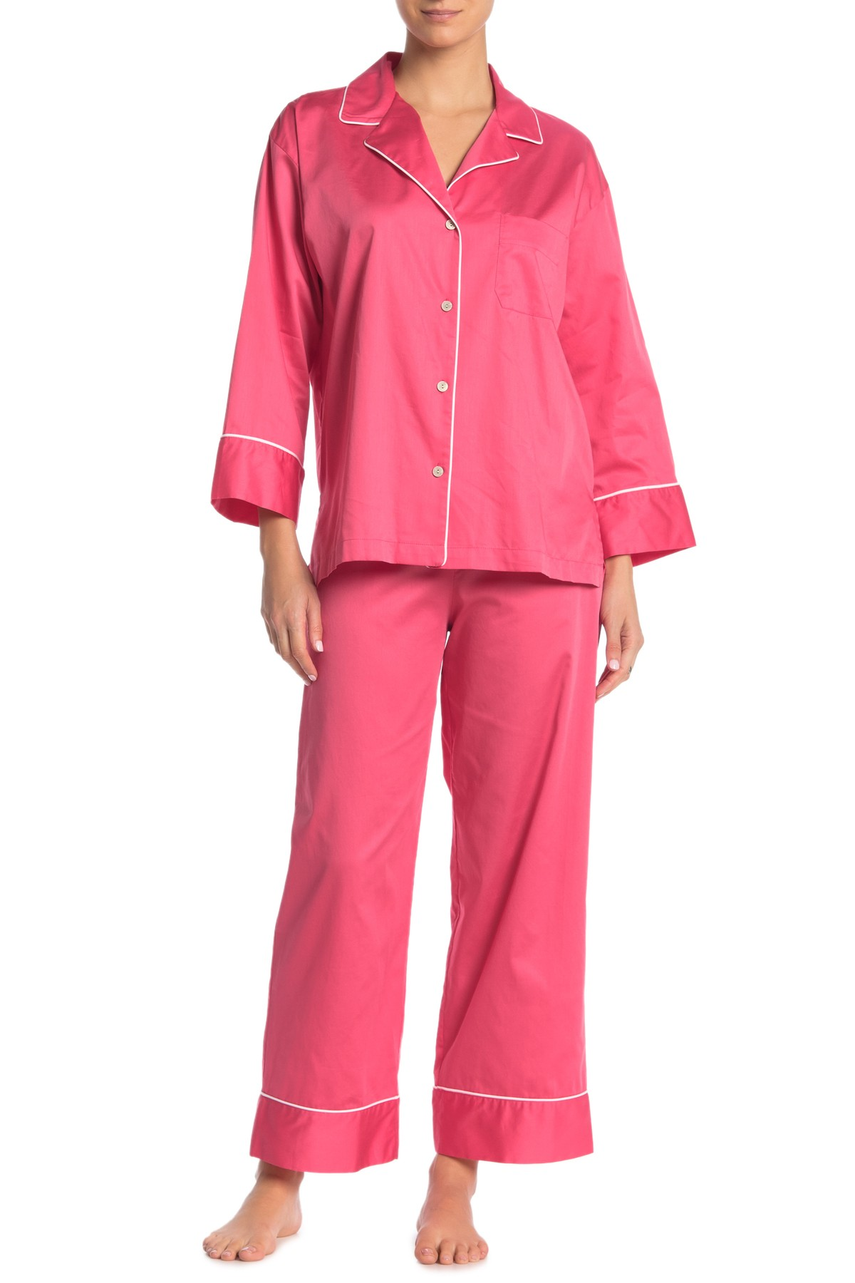 Natori sateen cotton pajama set