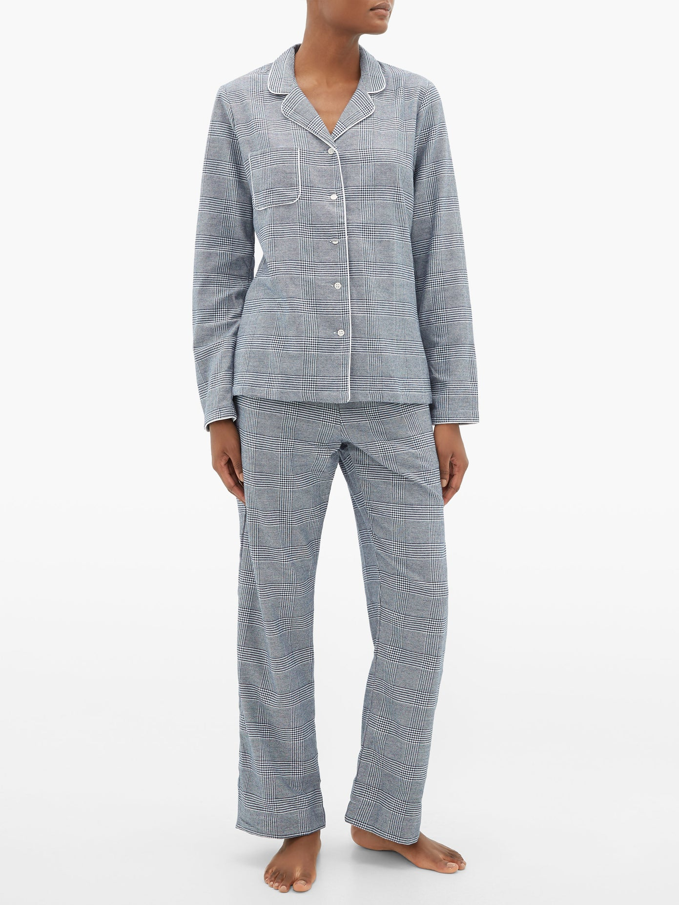 Derek Rose brushed cotton pajamas