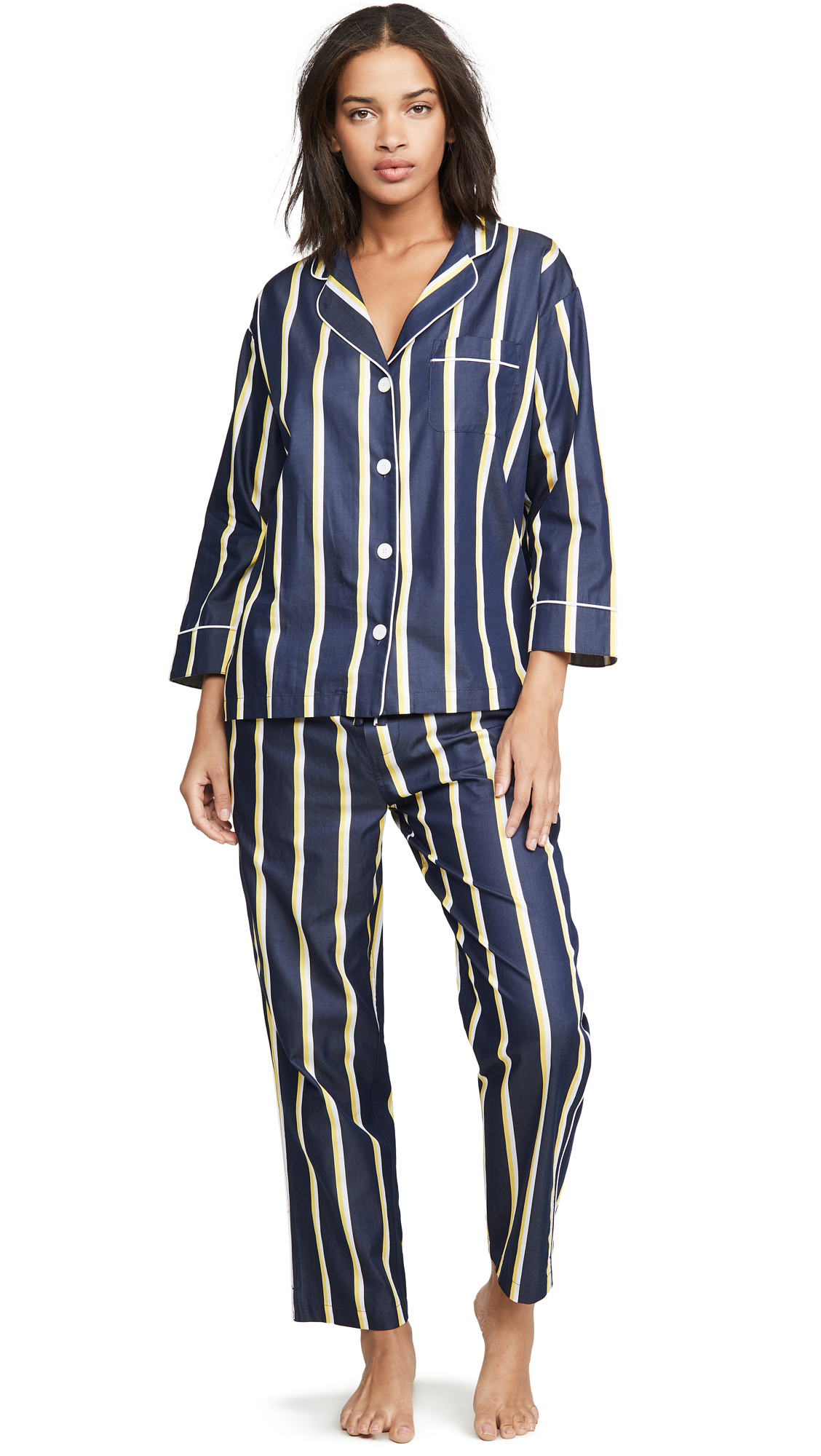Sleepy Jones cotton PJ set