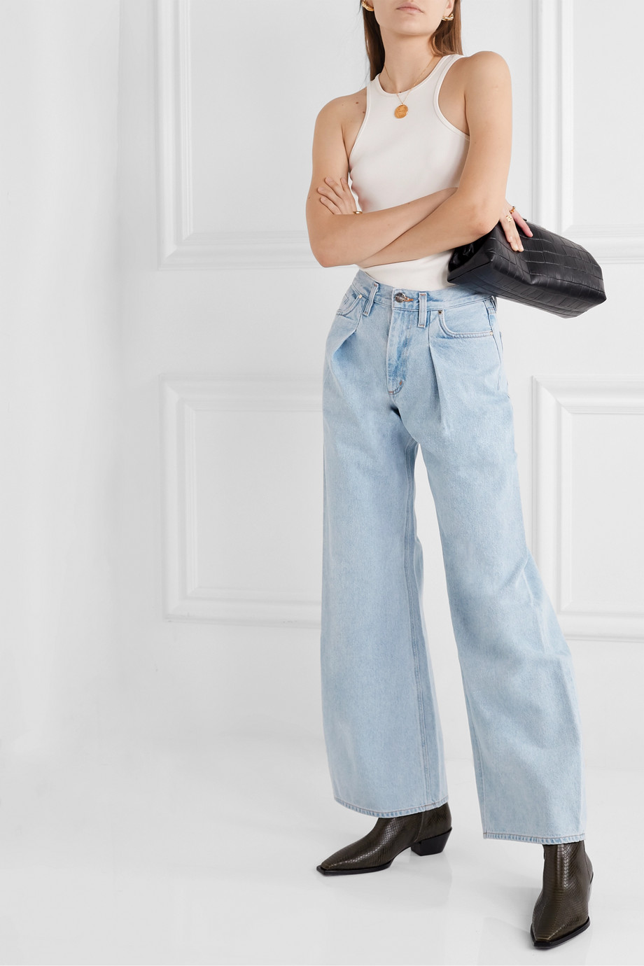 Goldsign pleated jeans