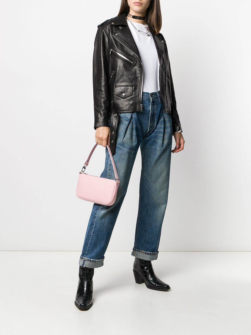 Re/done pleat-front jeans