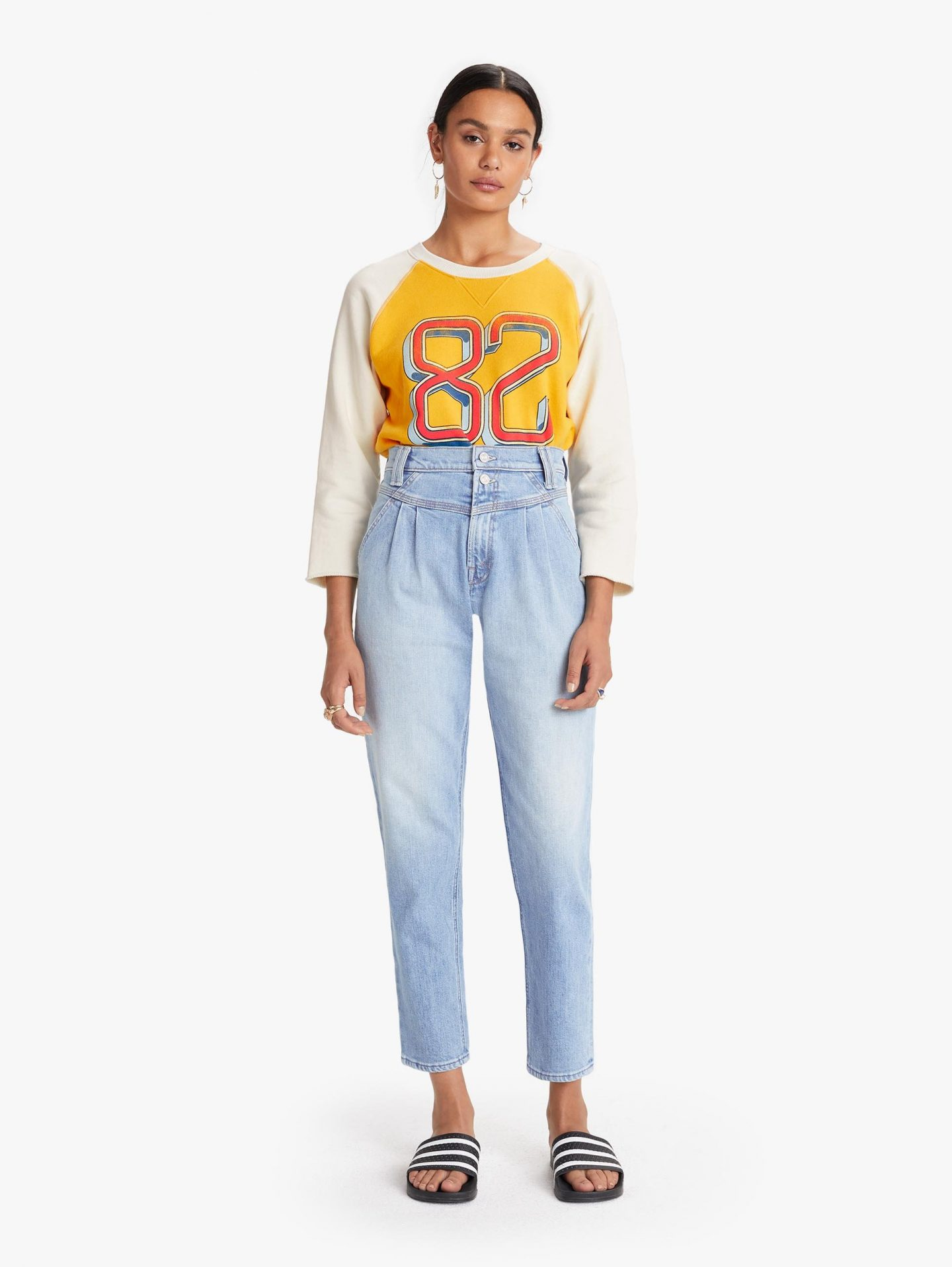 Mother pleated jeans