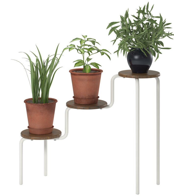 Webster round multi-tiered plant stand