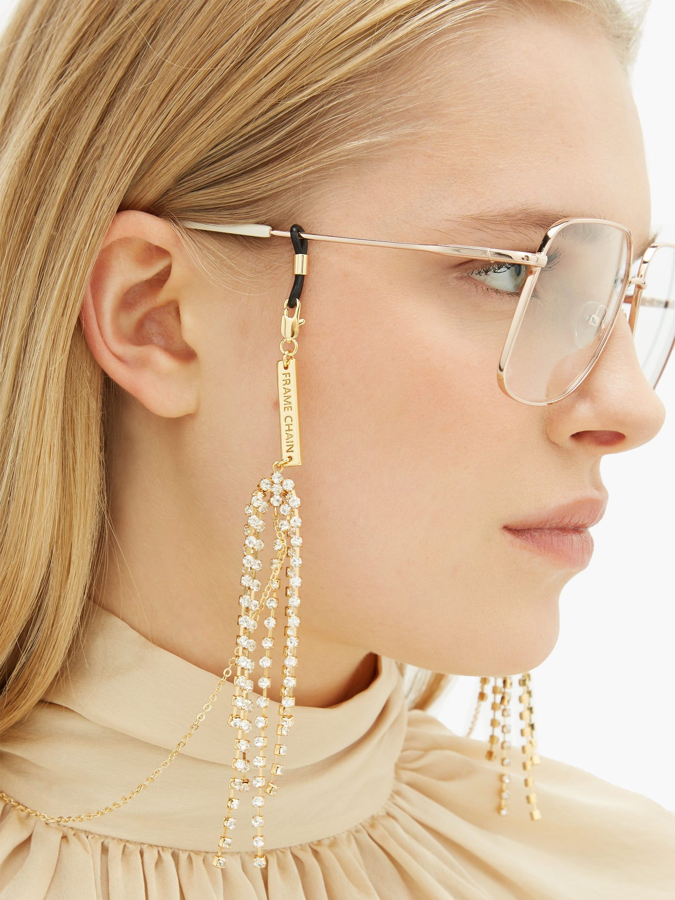 rhinestone glasses chain