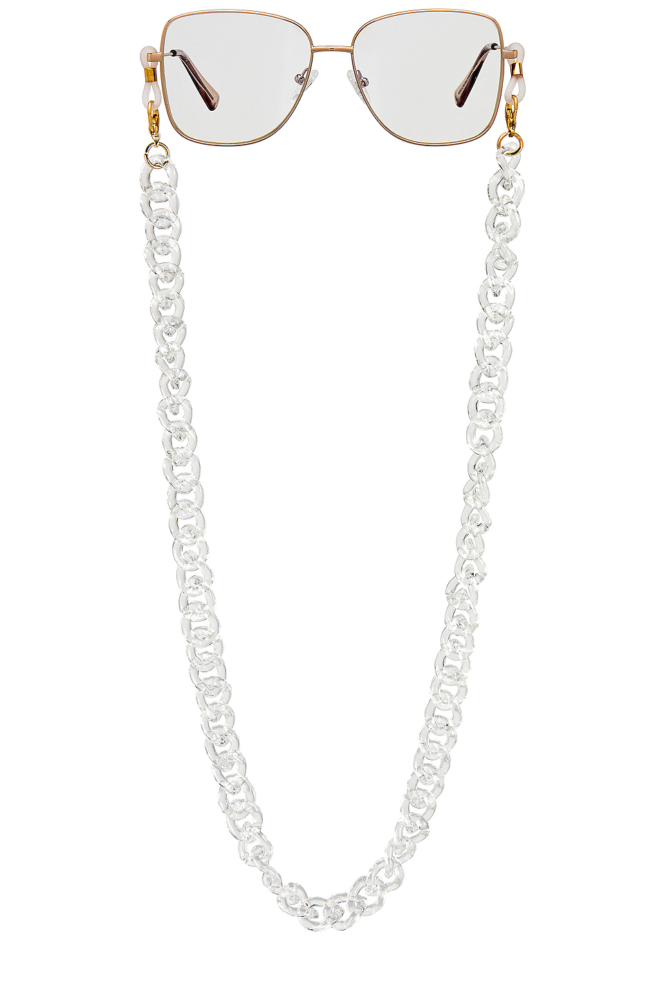clear eyeglass chain