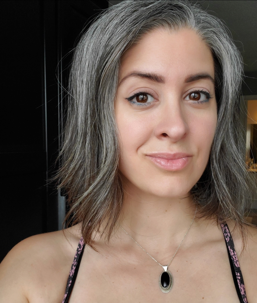growing out white hair