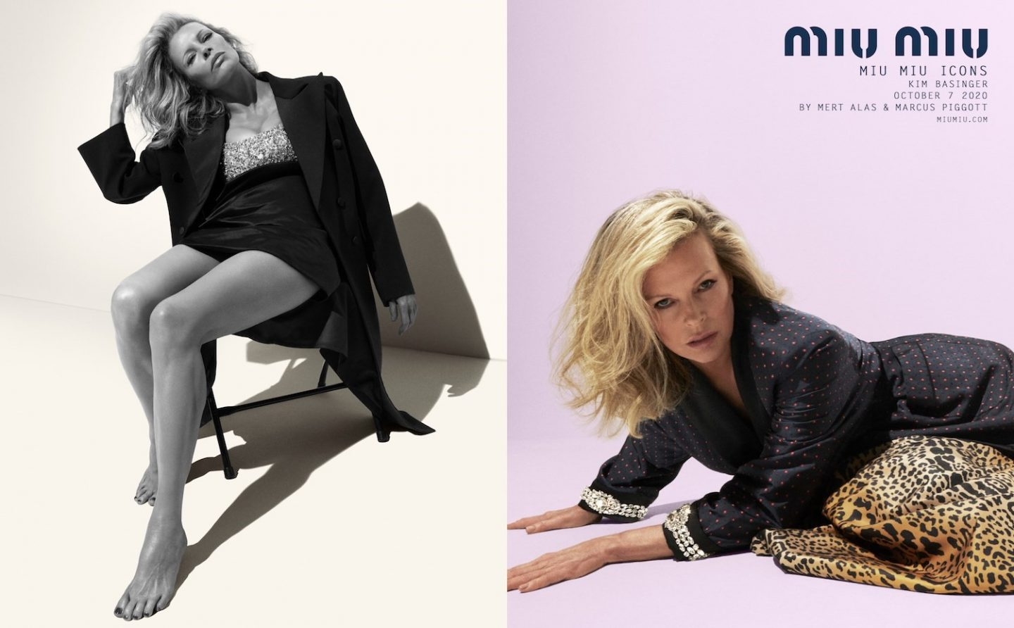 Kim Basinger models for Miu Miu