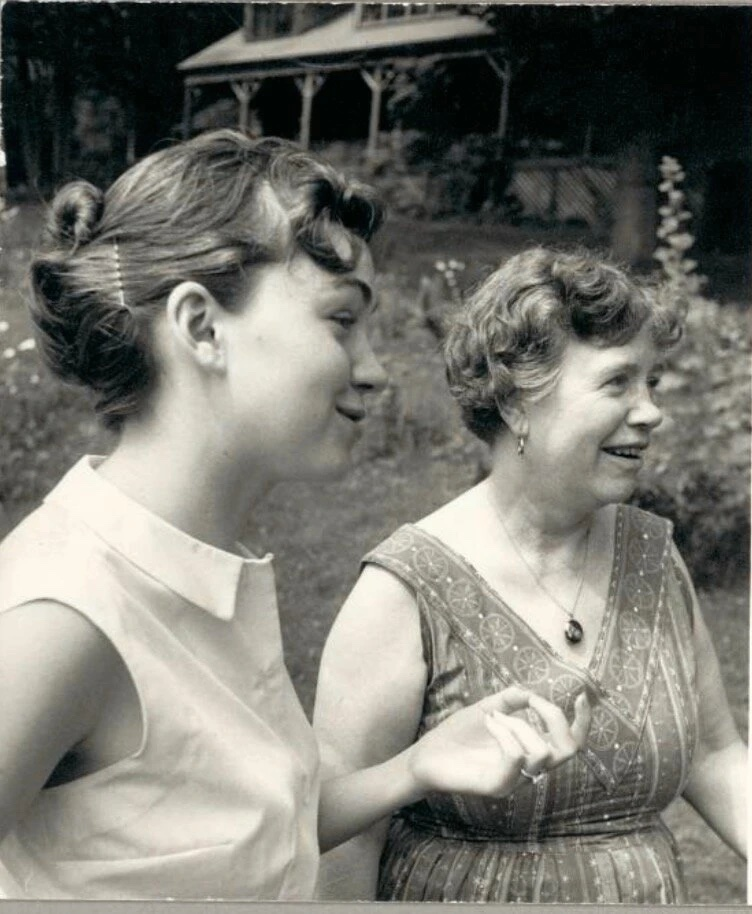 Dr. Mary Catherine Bateson with Margaret Mead