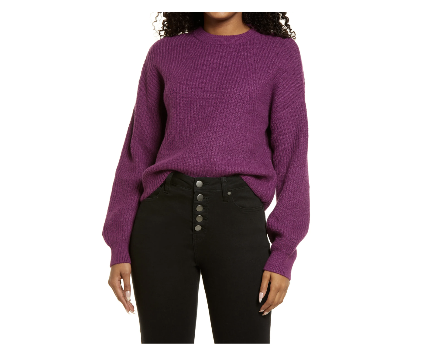 cropped full-sleeve sweater